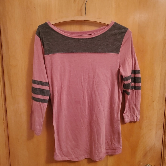 City Streets Tops - City Streets large pink half sleeve shirt